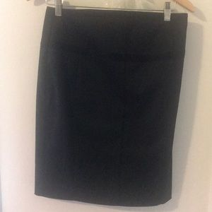 Black Express Pencil Skirt with corset detail back